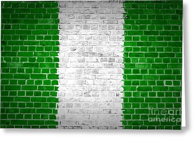 Stonewall Greeting Cards - Brick Wall Nigeria Greeting Card by Antony McAulay