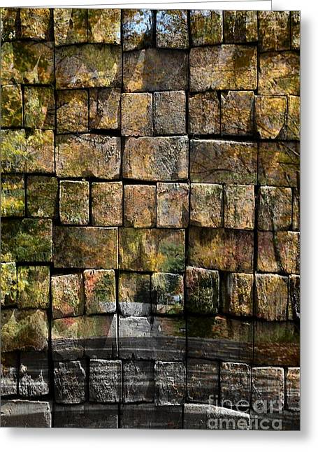 Brick Wall Of Fall Greeting Card by Kathleen Struckle