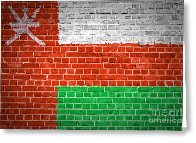 Stonewall Greeting Cards - Brick Wall Oman Greeting Card by Antony McAulay