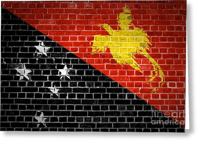 Stonewall Greeting Cards - Brick Wall Papua New Guinea Greeting Card by Antony McAulay