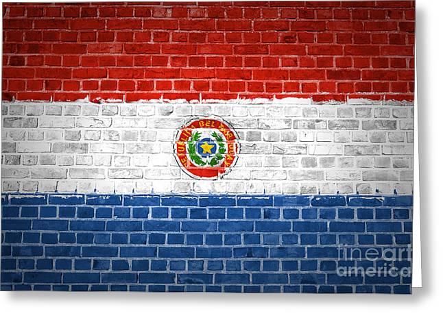 Paraguay Greeting Cards - Brick Wall Paraguay Greeting Card by Antony McAulay