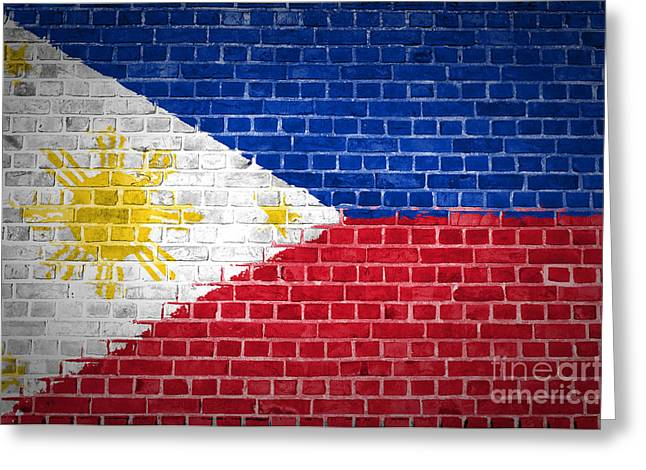Stonewall Greeting Cards - Brick Wall Philippines Greeting Card by Antony McAulay