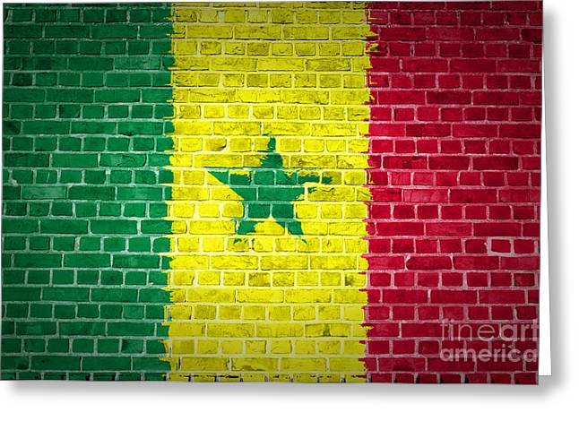 Senegal Greeting Cards - Brick Wall Senegal Greeting Card by Antony McAulay