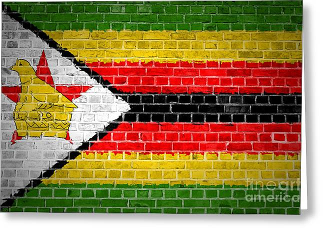 Zimbabwe Greeting Cards - Brick Wall Zimbabwe Greeting Card by Antony McAulay