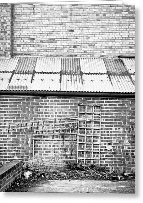 Metallic Sheets Greeting Cards - Brick walls Greeting Card by Tom Gowanlock
