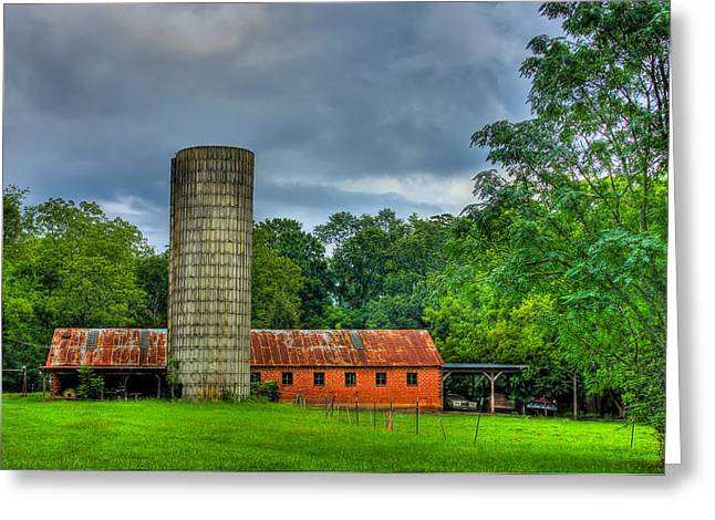 Dairy Barn Greeting Cards - Brick Work Greeting Card by Reid Callaway
