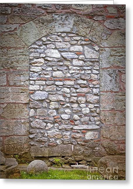 Bricked Up Doorway Greeting Card by Antony McAulay