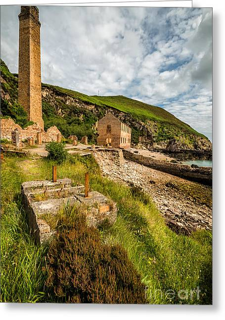 Sea Shore Greeting Cards - Brickwork Ruins Greeting Card by Adrian Evans