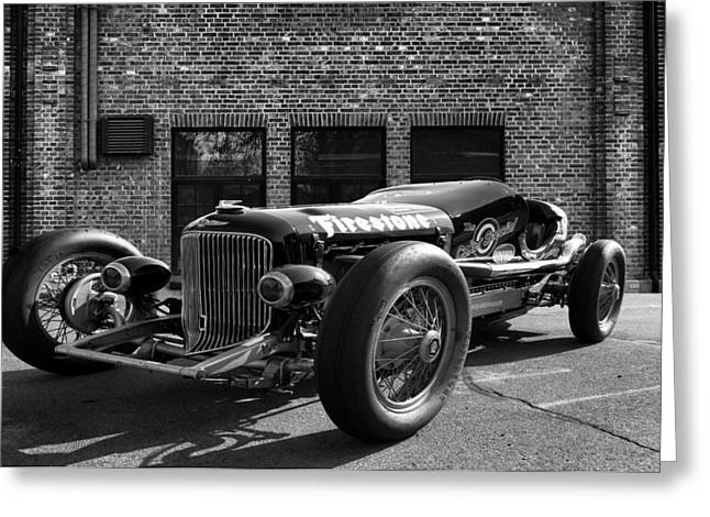 Wire Wheels Greeting Cards - Brickyard Buick Greeting Card by Peter Chilelli