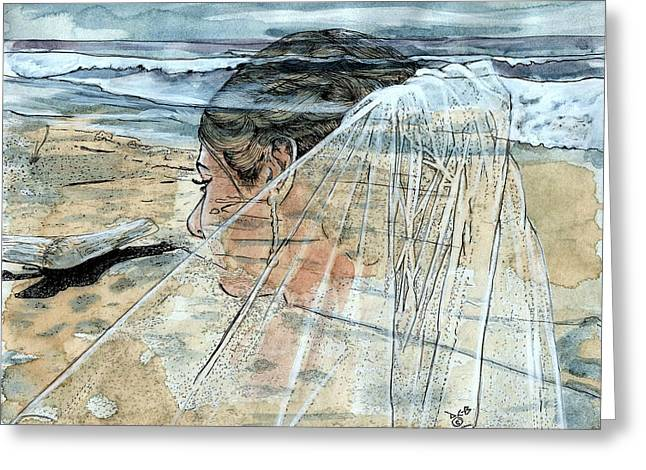 Big Sur California Mixed Media Greeting Cards - Bridal Apparition  Greeting Card by Diana Cardosi-Bussone