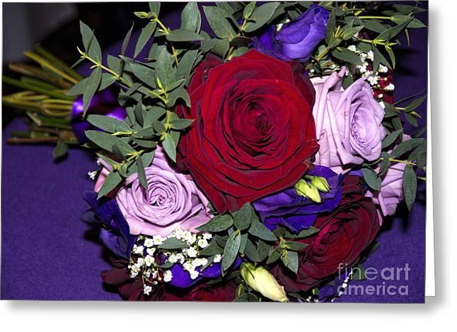 Bridal Bouquet Greeting Card by Gillian Singleton