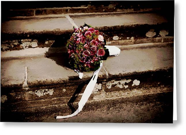 Just Married Greeting Cards - Bridal Bouquet Greeting Card by Mountain Dreams