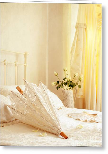 Valentines Day Greeting Cards - Bridal Parasol Greeting Card by Amanda And Christopher Elwell