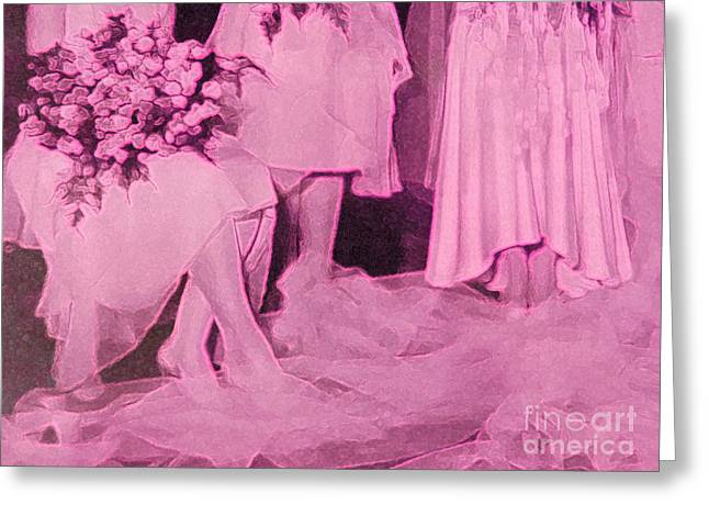 Maid Of Honor Greeting Cards - Bridal Pink by jrr Greeting Card by First Star Art