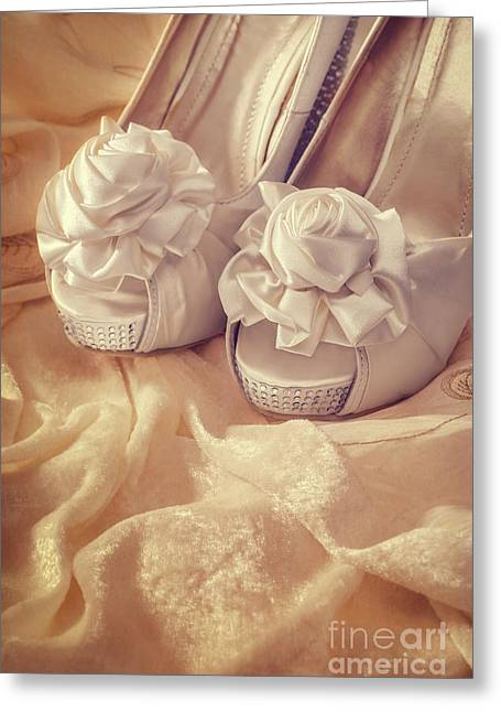 Sandals Greeting Cards - Bridal Sandals Greeting Card by Amanda And Christopher Elwell