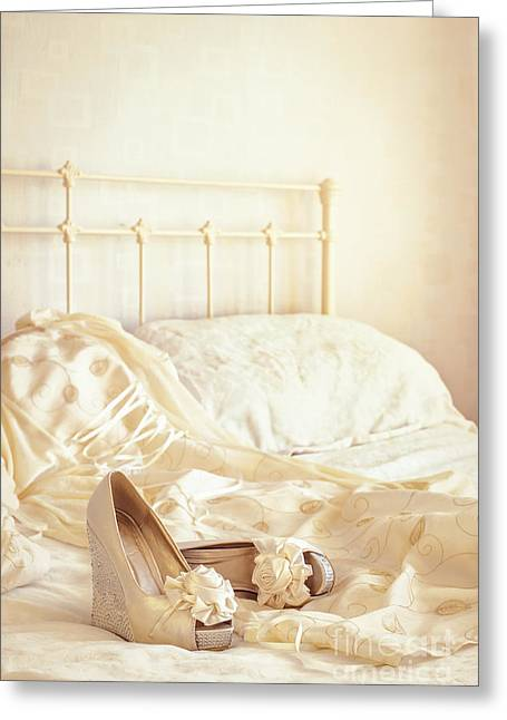 Valentines Day Greeting Cards - Bridal Sandals Greeting Card by Amanda And Christopher Elwell
