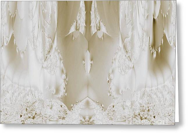 Maria Urso Digital Art Greeting Cards - Bridal Satin Greeting Card by Maria Urso