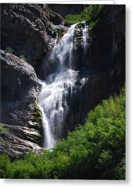 Becky Greeting Cards - #bridalveilfalls Greeting Card by Becky Furgason
