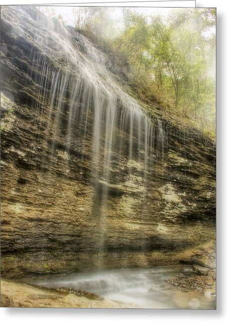 Heber Springs Greeting Cards - Bridal Veil Falls - Heber Springs Arkansas Greeting Card by Jason Politte
