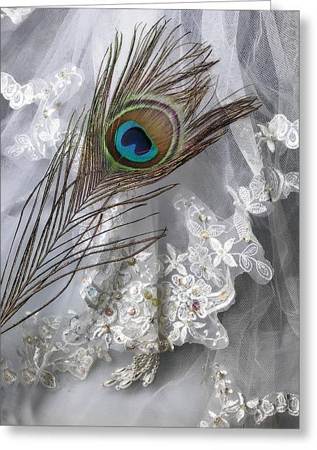 Veiled Greeting Cards - Bridal Veil Greeting Card by Joana Kruse