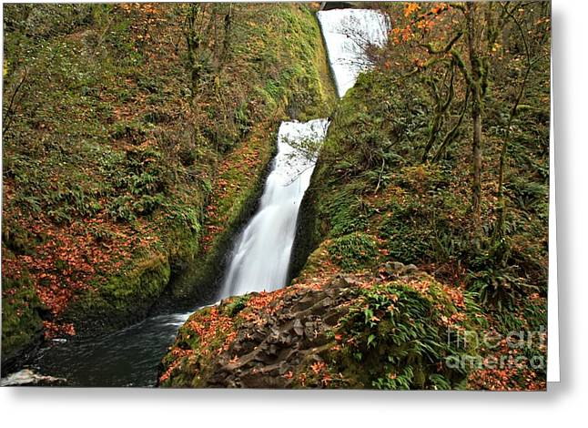 Bridal Veil Falls Greeting Cards - Bridal Veil Landscape Greeting Card by Adam Jewell