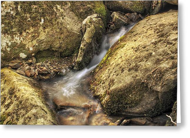 Heber Springs Greeting Cards - Bridal Veil Stream and Mossy Rocks - Heber Springs Arkansas Greeting Card by Jason Politte