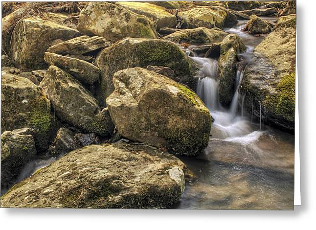 Heber Springs Greeting Cards - Bridal Veil Stream - Heber Springs Arkansas Greeting Card by Jason Politte