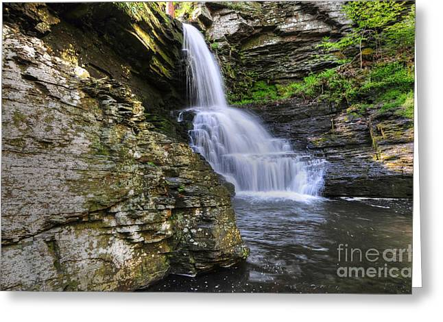 Falling Water Creek Greeting Cards - Bridal Veil Waterfalls Greeting Card by Paul Ward