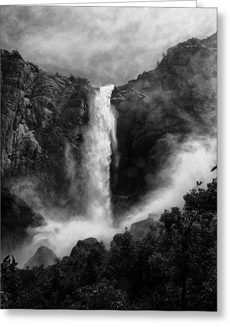 White River Greeting Cards - Bridalveil Falls Greeting Card by Cat Connor