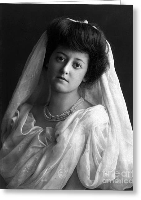 Apparel Greeting Cards - Bride, 1902 Greeting Card by Science Source