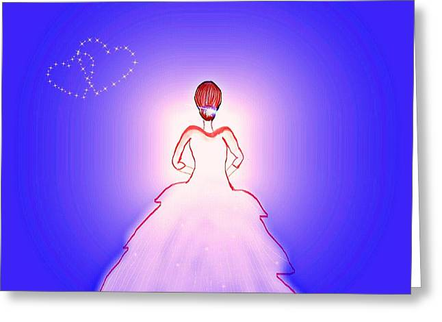 Worn In Paintings Greeting Cards - Bride Greeting Card by Chandana Arts