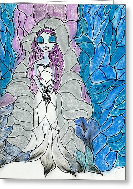Gothic Pastels Greeting Cards - Bride  Greeting Card by Katy  Scott