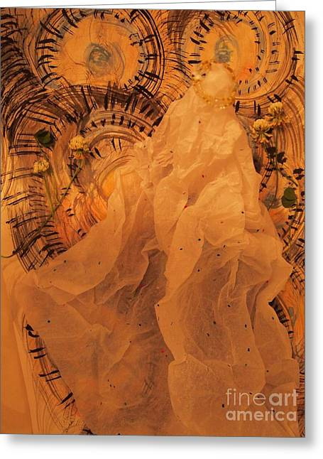 Ink Sculptures Greeting Cards - Bride Greeting Card by Nancy Kane Chapman