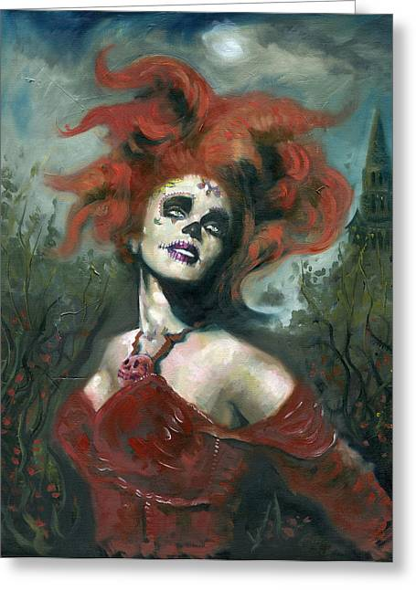 Bride Of The Dead Greeting Card by Luis  Navarro