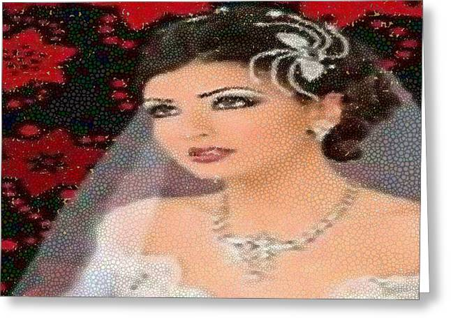 Bride To Be Greeting Cards - Bride To Be Mosaic Greeting Card by Catherine Lott