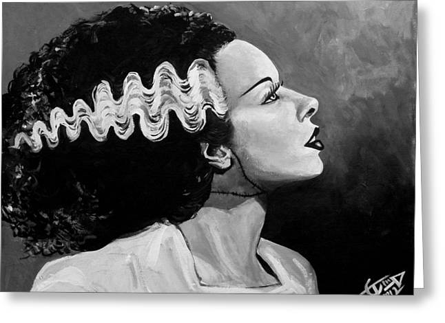 Classic Horror Greeting Cards - Bride Greeting Card by Tom Carlton