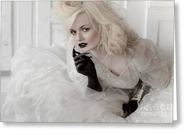 Long Nails Greeting Cards - Bride with Black Claws Greeting Card by Jt PhotoDesign