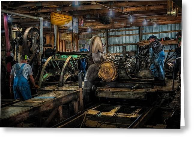 Circular Saw Greeting Cards - Briden-Roen Sawmill Greeting Card by Paul Freidlund