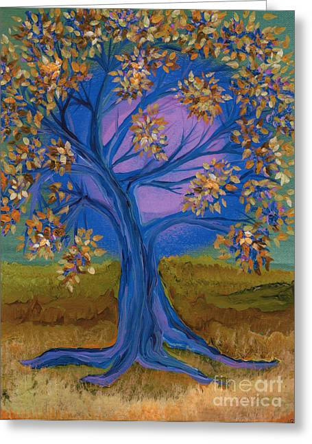 First Love Greeting Cards - Bridesmaid Tree blue Greeting Card by First Star Art