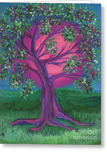 Maid Of Honor Greeting Cards - Bridesmaid Tree Greeting Card by First Star Art