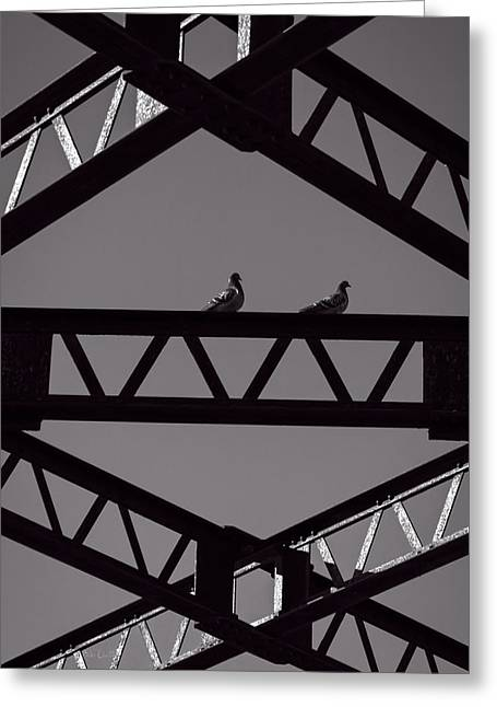 Industrial Abstract Greeting Cards - Bridge Abstract Greeting Card by Bob Orsillo