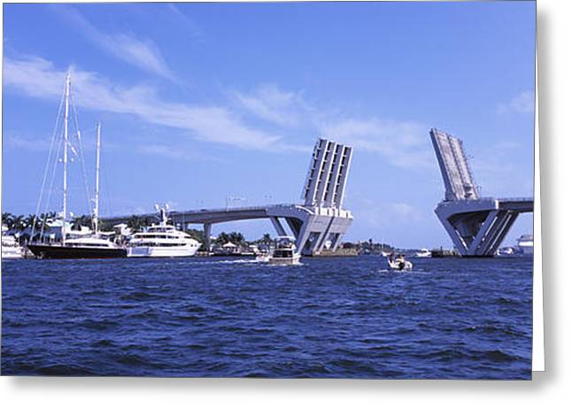 Fort Lauderdale Greeting Cards - Bridge Across A Canal, Atlantic Greeting Card by Panoramic Images