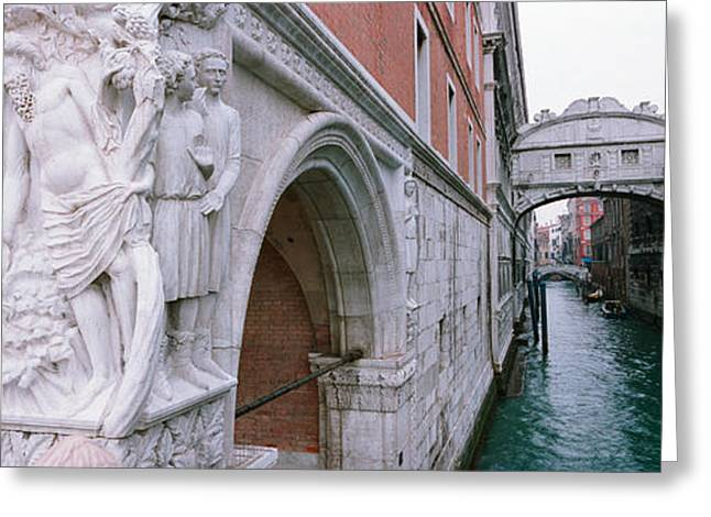 Sighs Greeting Cards - Bridge Across A Canal, Bridge Of Sighs Greeting Card by Panoramic Images