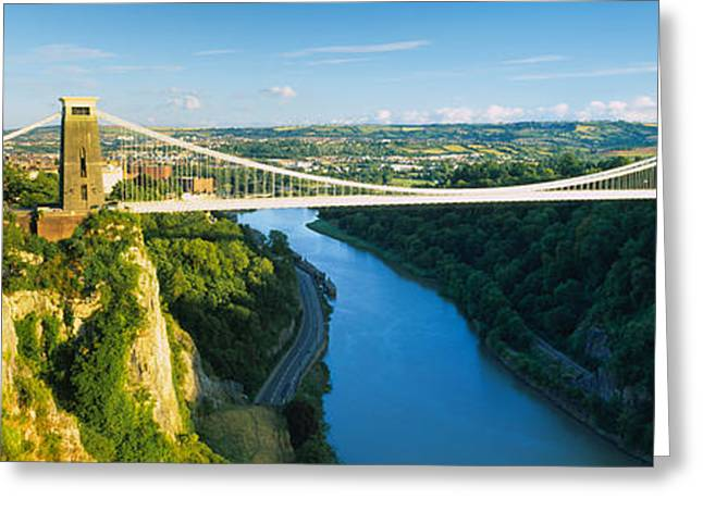 Avon Greeting Cards - Bridge Across A River, Clifton Greeting Card by Panoramic Images