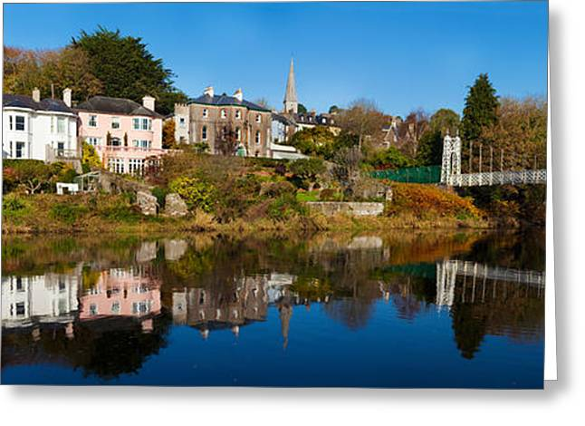 Colors Of Autumn Greeting Cards - Bridge Across A River, Dalys Bridge Greeting Card by Panoramic Images