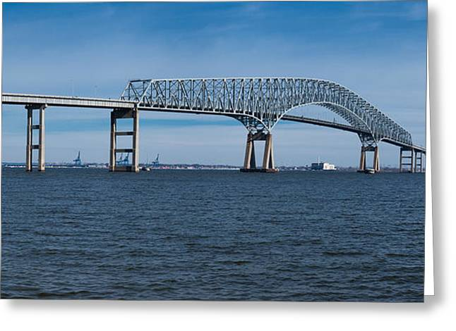 Scenic River Photography Greeting Cards - Bridge Across A River, Francis Scott Greeting Card by Panoramic Images