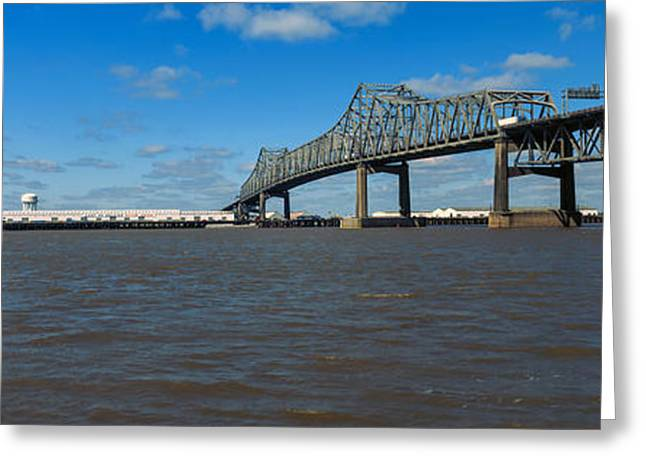 Baton Rouge Greeting Cards - Bridge Across A River, Horace Wilkinson Greeting Card by Panoramic Images