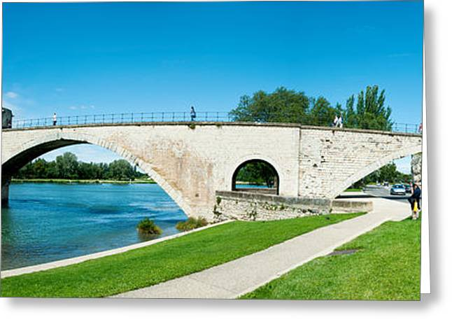 11th Century Greeting Cards - Bridge Across A River, Pont Greeting Card by Panoramic Images