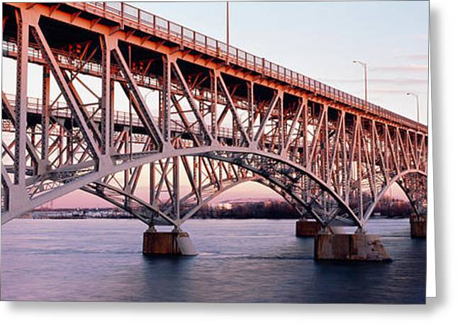 Arched Bridge Greeting Cards - Bridge Across A River, South Grand Greeting Card by Panoramic Images
