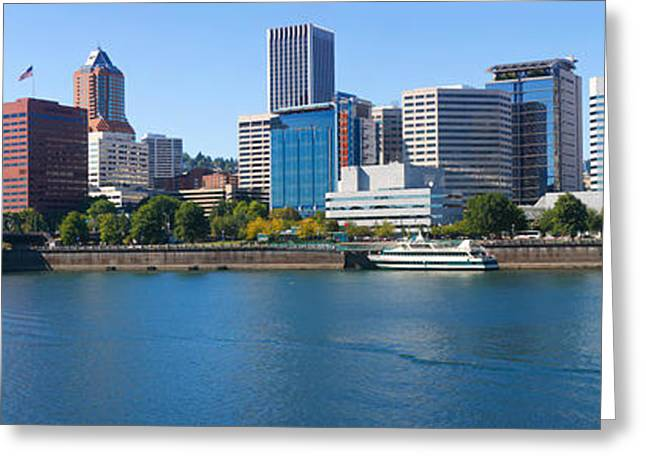 Willamette Greeting Cards - Bridge Across A River, Willamette Greeting Card by Panoramic Images